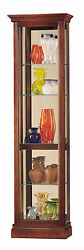 Howard Miller 680-245 (680245) Gregory Lighted Curio Cabinet -Windsor Cherry