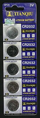 Cr2032 Lithium Button Cell Battery - 5 Tianqui CR2032 CR 2032 3 Volt Lithium Button Cell Battery EXP 2022 USA SHIP