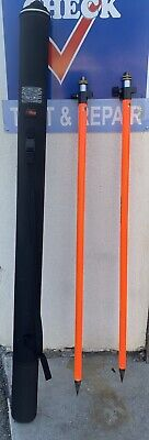 Set Of Seco Knob Lock Prism Pole 8.5 Ft. D10726-02 Carrying Case