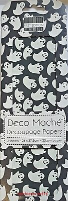 DOVECRAFT FIRST EDITION DECO MACHE DECOUPAGE PAPERS FEDEC067 - HALLOWEEN GHOSTS