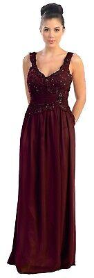 Abendkleid Hochzeitsgast Brautmutterkleid Brautjungfern burgund Spitze Gr.50 NEU
