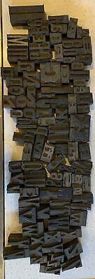 Huge Lot Letterpress Wood Type Printing Blocks Alphabet Letters 400 Pieces