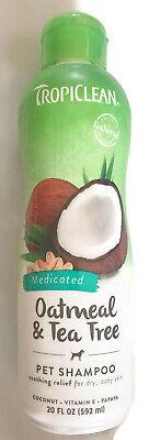 TropiClean Dog Shampoo - Oatmeal & Tea Tree Oil and a Free Gift!