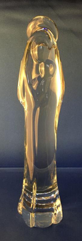 Rare Madonna & Child Art Glass Sculpture Figure FM Roneby Sweden Excellent