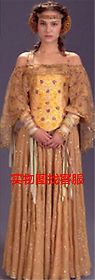 Star Wars II Queen Padme Naberrie Amidala Cosplay Costume Dress Customized (Queen Padme)
