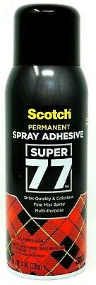 Scotch 3m Super 77 Multi Purpose Permanent Spray Adhesive Glue Spray 8 Oz.