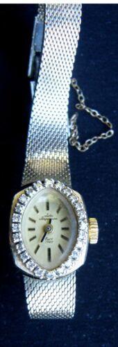 JULES JURGENSEN  14K Gold Ladies Watch with 24 diamonds  Vintage/Antique