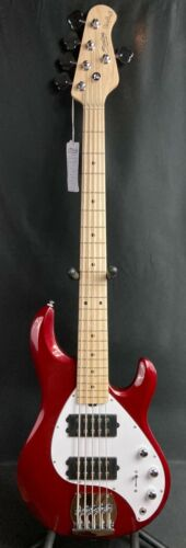 Sterling by Music Man StingRay RAY5HH 5-String Bass Guitar Candy Apple Red