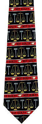New Not Guilty Mens Necktie Legal Lawyer Justice Attorney Black Law Job Neck Tie