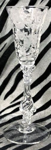 1 Cambridge WILDFLOWER CLEAR Floral Etched Crystal Cordial Glass 1939 -1958