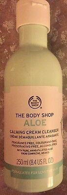 - NEW THE BODY SHOP ALOE CALMING CREAM CLEANSER FACIAL WASH 8.4 OZ SOOTHE MAKEUP