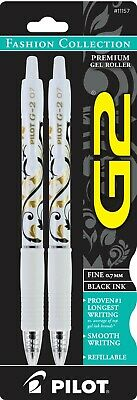 Pilot G2 Fashion Collection Gel Roller 2pk 0.7mm Fine Black Ink 11157