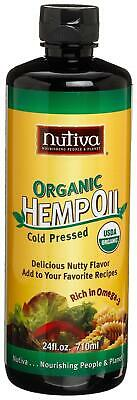 Nutiva Organic, Cold-Pressed, Unrefined Hemp Seed Oil from non-GMO, Sustainably 1