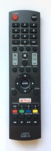 New Usbrmt Replacement Sharp Tv Remote Gj221-c For Sharp Led Hdtv Smart Tv