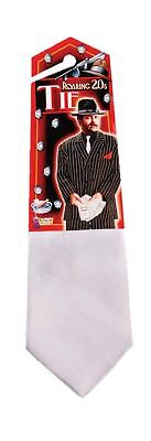 Roaring 20's Classic White 1920's Gangster Tie Mob Mobster Costume Accessory New](Roaring Twenties Costumes For Men)