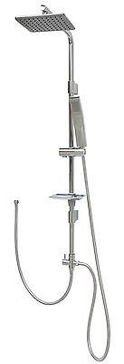 Duschset Duschstange Regendusche Duscharmatur Duschsystem Duschkopf Brause Chrom