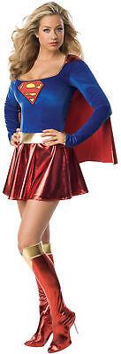Sexy Supergirl-Kostüm Deluxe für Damen (Damen Sexy Supergirl Kostüme)