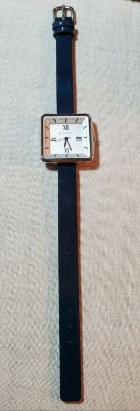 Silpada Mod Minutes Watch. NWOT. Genuine Patent Leather Blue Band. Adjustable.