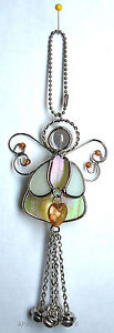 Stained Glass Angel Ornament November Birthstone Birthday Christmas