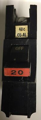 5 Federal Pacific Stab Lok Fat Single Pole 20 Amp Breakers Na120 - Qty 5