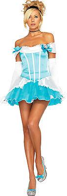 Sexy Halloween Adult Glass Slipper Princess Cinderella Costume (Cinderella Glass Slippers For Women)