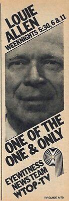 1976 Wtop Tv News Ad Louie Allen Washington D C  Eyewitness News Team