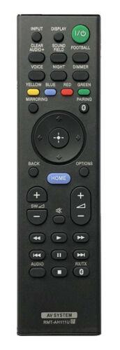 New Replacement Remote Rmt-ah111u For Sony Soundbar Ht-rt5 Ht-st9 Sa-rt5 Sa-st9