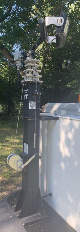 22' Crank Telescoping Mast 12/8 Wire Harness Surveillance Lighting & Radio