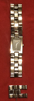 Vintage Gucci Watch Silver Color Link Chain Rectangle Watch Women