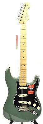 Fender American Professional Stratocaster Electric Guitar Antique Olive 2016
