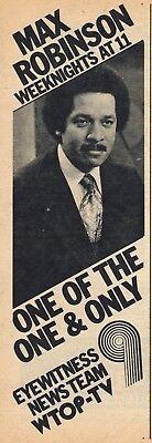1976 Wtop Tv News Ad Max Robinson Washington D C  Eyewitness News Team
