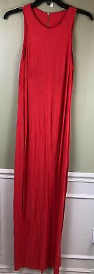 Back Sundress - EE-61  Tart strappy laced back boho maxi sundress dress HIBISCUS size S