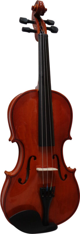 VIOLINE - GEIGE - NATUR - GRÖßENAUSWAHL im Set mit Koffer, Bogen, Kinnstütze xxx 1/2 Violine natur