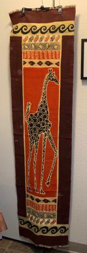 Safari African Giraffe Printed Cloth Wall Hanging