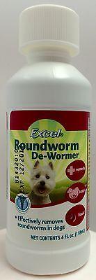 Liquid Dog Wormer - Eight In One Excel Roundworm Dog Puppy De-Wormer Breeder 4 fl oz Liquid 8 in 1