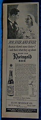 1940 Rheingold Beer  Newsp Ad From Davenport Iowa Daily Times