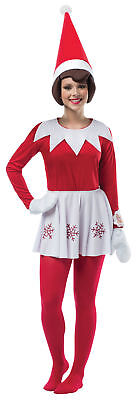 Elf on the Shelf Dress Adult Costume Red Christmas Santa Helper Halloween - Elf On The Shelf Adult