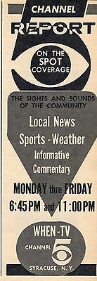 1966 When Syracuse New York News Ad Local News Sports And Weather