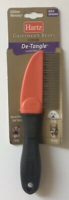 HARTZ Groomer's Best Dog Comb De-Tangle Brush for Long, Curly, or Heavy Hair
