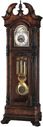 Howard Miller 610-999 (610999) Reagan Grandfather Floor Clock - Hampton Cherry