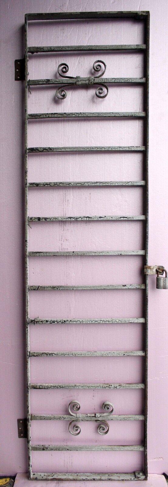 57x15 Antique Vintage Steel Iron Metal Fence Gate Door Panel Window Guard Grille