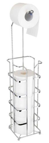 Toilet Paper Holder Stand Organizer, 4 Rolls Holder, Silver