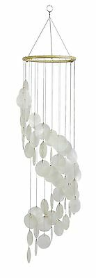 "31.5"" Long White Spiral Capiz Chime Windchime New"
