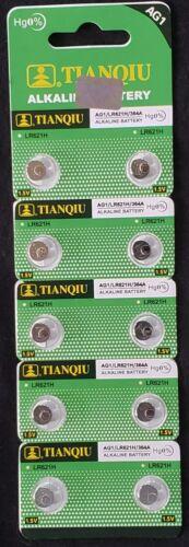 10 LR60 AG1 364 LR621 165 1.5V Alkaline Battery Watch Exp 2021 USA SHIP