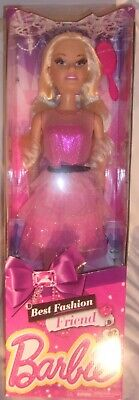 BARBIE BEST FASHION FRIEND DOLL WITH PINK DRESS AND LONG BLONDE HAIR NEW IN