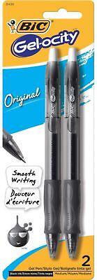 Bic Velocity Gel Retractable Pen Black 2 Ea