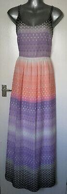 Jonathan Saunders Edition lilac/coral/white/grey pattern maxi dress size 10