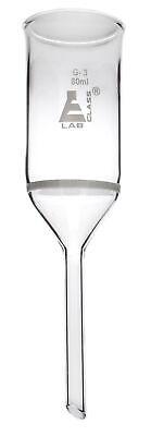 Buchner Funnel 80ml Capacity Plain Stem - Borosilicate Glass - Eisco Labs