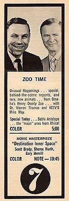 1969 KETV TV AD~ZOO TIME~OMAHA NEBRASKA HENRY DOORLY ZOO~MIKE MAY~WARREN THOMAS