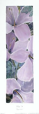 HAZEL BURROWS Blow Up Contemporary floral art print NEW SIZE:48cm x 13cm  RARE